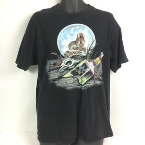 Easy Riders Size Large Black T-Shirt Hanes Beefy